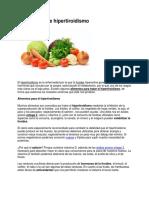 Alimentación e Hipertiroidismo
