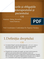 Drepturile Si Obligatiile Kinetoterapeutului Si Pacientului