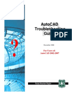 Autocad Trouble Shooting Guide