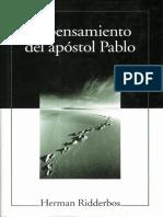 Herman Ridderbos - El Pensamiento Del Apostol Pablo.pdf