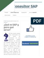 ¿Qué Es SAP y Para Qué Sirve Ser Consultor SAP
