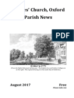 St Giles, August 2017 Parish News