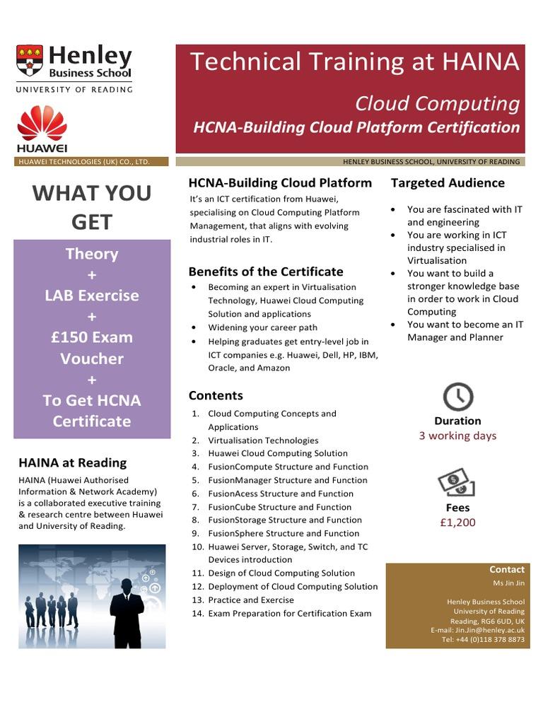 flyer-hcna-cloud v1 | Cloud Computing | Virtualization