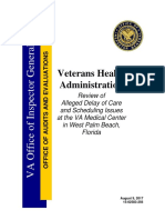 Oig Report on West Palm Beach Va