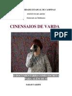 Cinensaios de Varda- o documentário como escrita para além de si