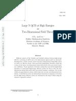 [Araf'Eva, I.ya.] Large N QCD at High Energies as Two-Dimensional Field Theory