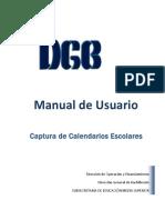 Manual Para La Captura de Calendarios