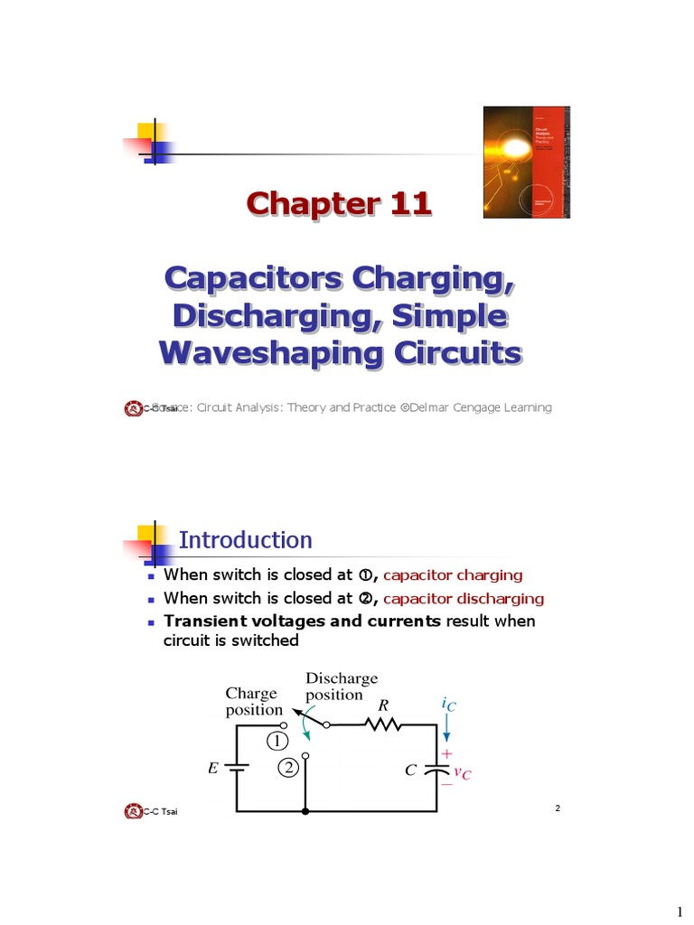 Be Ch11 Capacitor Charging Discharging Electrical Charge Circuit Network