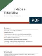Aula 1 - Probabilidade e Estatística