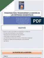 Capitulo 2 - Principios para transformar la gestión en las empresas occidentales