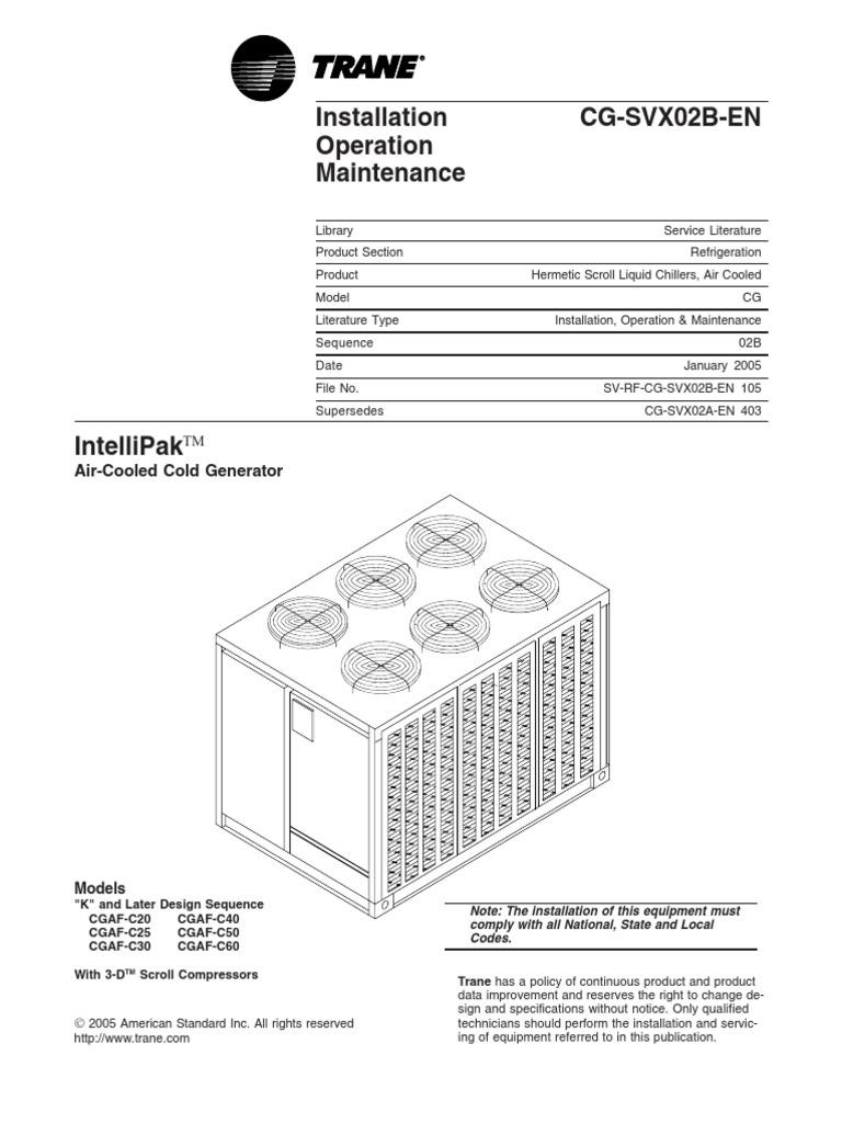 Trane Wiring Diagram Model Echalon