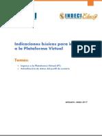 Indicaciones Básicas Para Ingresar a La Plataforma Virtual INDECI 2017