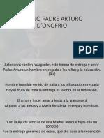 Himno y Oración Padre Arturo d'Onofrio
