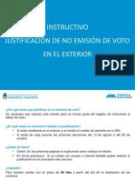 Instructivo Justificacion No Emision Voto Exterior