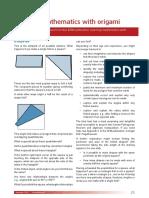 Pub 3 Learn Maths Origami Trial