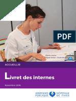 Livret Des Internes en France Novembre 2016