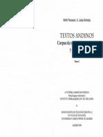 Textos Andinos. Corpus de Textos Khipu Incaicos y Coloniales Pp 29-56