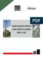 GESTIÓN DE RIESGOS EN CONTEXTO DE CAMBIO CLIMÁTICO EN LA INVERSIÓN PÚBLICA Y LA ABE