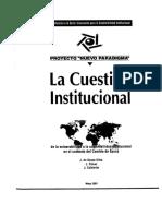 La Cuestion Institucional