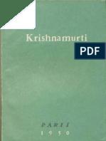 Krishnamurti - Conférence Paris 1950.epub