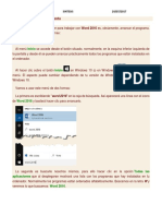 Word Inicio y Primer Documento