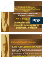 Desafios éticos para a educação e a pesquisa na perspectiva freireana - Bianco Zalmora Garcia