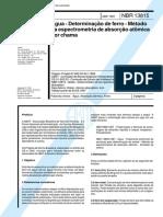 212608671-NBR-13815-Abr-1997-Agua-Determinacao-de-ferro-Metodo-da-espectrometria-de-absorcao-atomica-por-chama.pdf