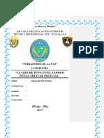 Clases de Pena en El Codigo Penal Militar Policial Forjadores