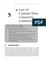 Topic 5 Law of Contract (Free Consent to Contract)