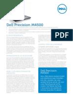 Dell Precision m4500 Spec Sheet Es