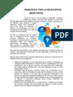 CRITERIOS PEDAGOGICOS  PARA LA SELECCIÓN DE MEDIO SOCIAL.docx