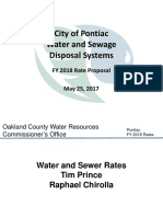 Pontiac Water and Sewer Rates FY 2018