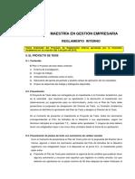 Reglamento Interno - Tesis