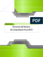 NCF 5. Estructura Del Número de Comprobante Fiscal (NCF)