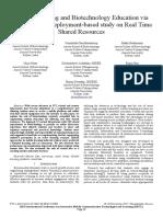 Aprendizagem Móvel e Educação Em Biotecnologia Através de Laboratórios Remotos Estudo Baseado Em Implantação Em Recursos Compartilhados Em Tempo Real