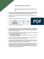Taller Matemáticas Financiera Criterios de Evaluación y Gradientes