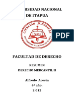 Derecho Mercantil II