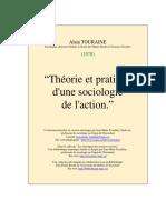Touraine, Théorie Et Pratique d'Une Sociologie de l'Action
