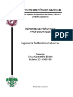 Reporte de Practicas profesionales (Experiencia Laboral)