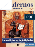 La Medicina en La Antiguedad - Jose Maria Lopez Pinero