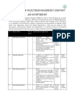 Advertisement & Job Application From for Punjab Health Facilities Management Company( PHFMC) 18-3-17