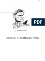 Questions on Ted Hughes Poetry