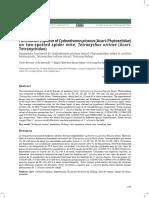 Respuesta funcional de Cydnodromus picanus (Acari