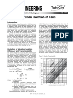 Vibration Isolation of Fans Fe 1900