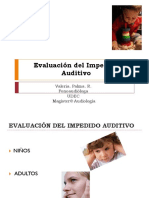 Evaluación Del Impedido Auditivo