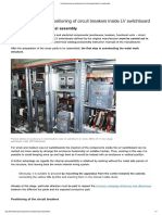Practical Advices for Positioning of Circuit Breakers Inside LV Switchboard