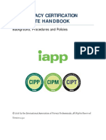 IAPP Privacy Certification Candidate Handbook