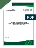 Informe Técnico en Relación a La Uvicacion de Una Subestacion
