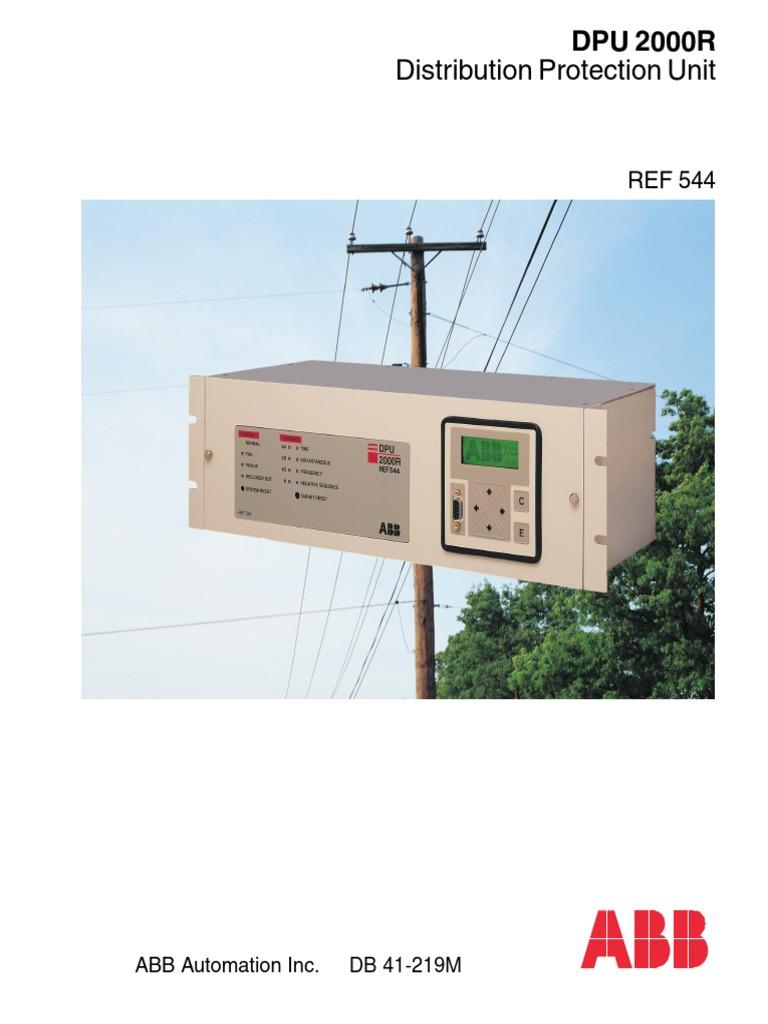 ABB DPU 2000R Distribution Protection Unit.pdf | Relay ... Abb Dpu R Wiring Diagram on