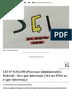 Lei Federal 9784-1999 Só o q Interessa